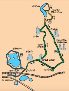 Skalne Miasteczko - mapa