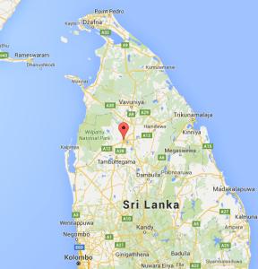 Anuradhapura na mapie