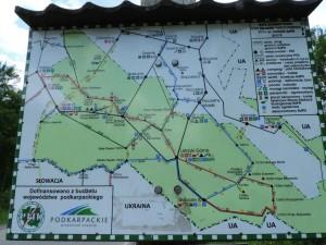 Bieszczady, mapa
