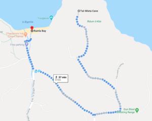 Trasa od Ramla Bay do Tal-Mixta Cave